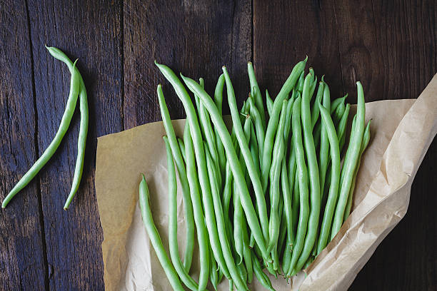 French Beans on the old wood
